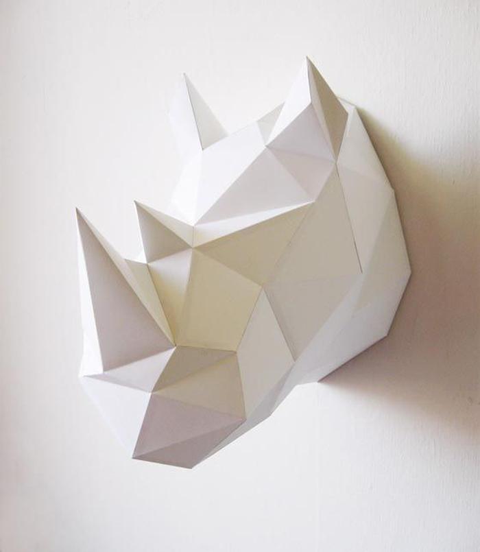 noshörning origami